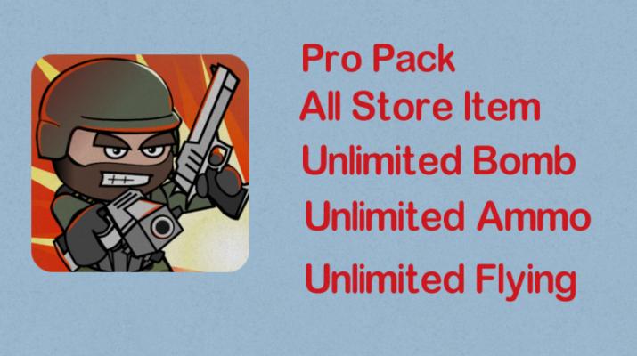 Mini Militia Mod | Unlimited Nitro + Ammo + Bomb | Pro pack
