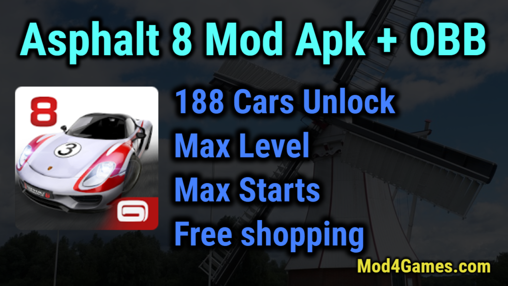 Asphalt 8 Airborne Mod Apk | Unlimited money + Free Shopping