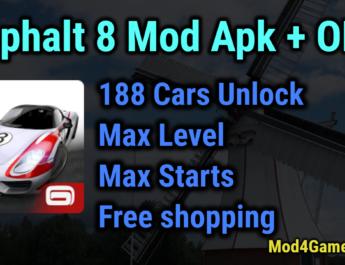asphalt 8 airborne mod apk + data files (unlimited money)