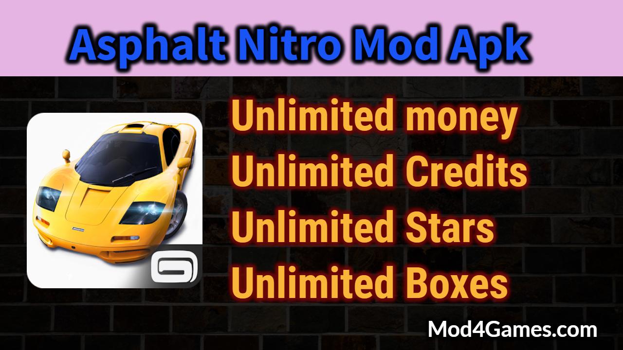 asphalt 8 mod apk unlimited money 2018