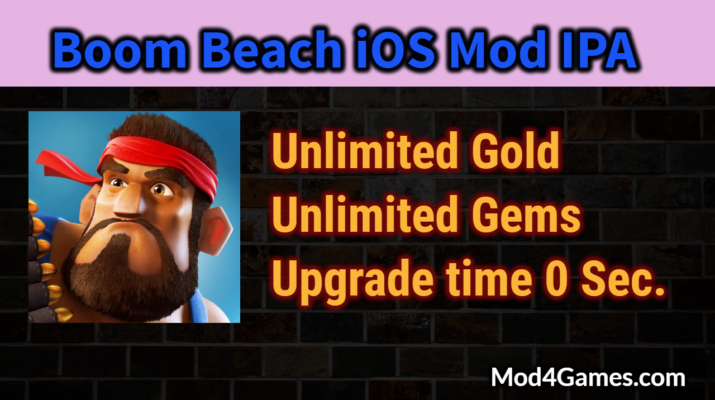 Boom Beach [iOS Mod] IPA | Unlimited Gold and Gems | install without