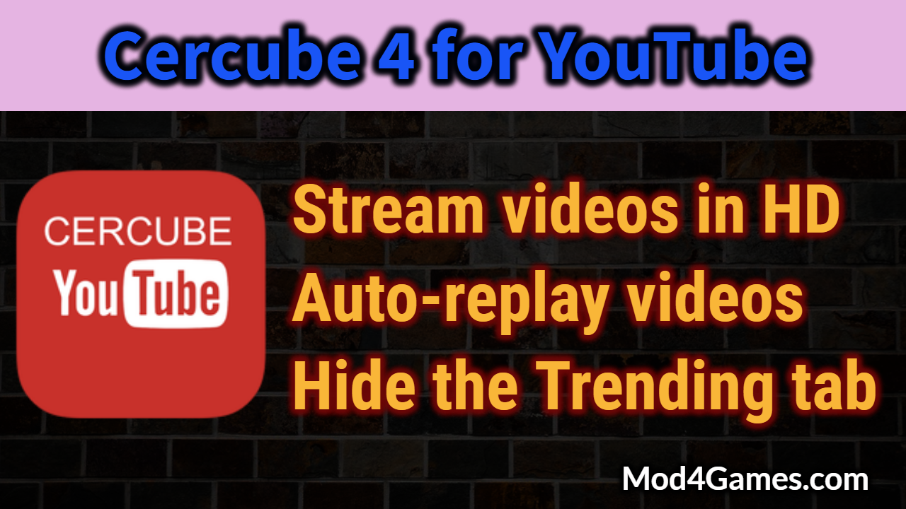 Cercube 4 for YouTube [iOS App] IPA | Download Video