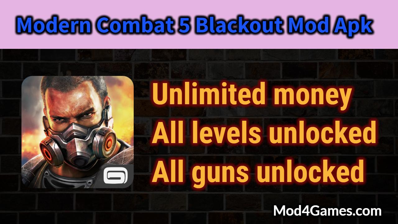 Modern Combat 5 Blackout Mod Apk | All levels unlocked
