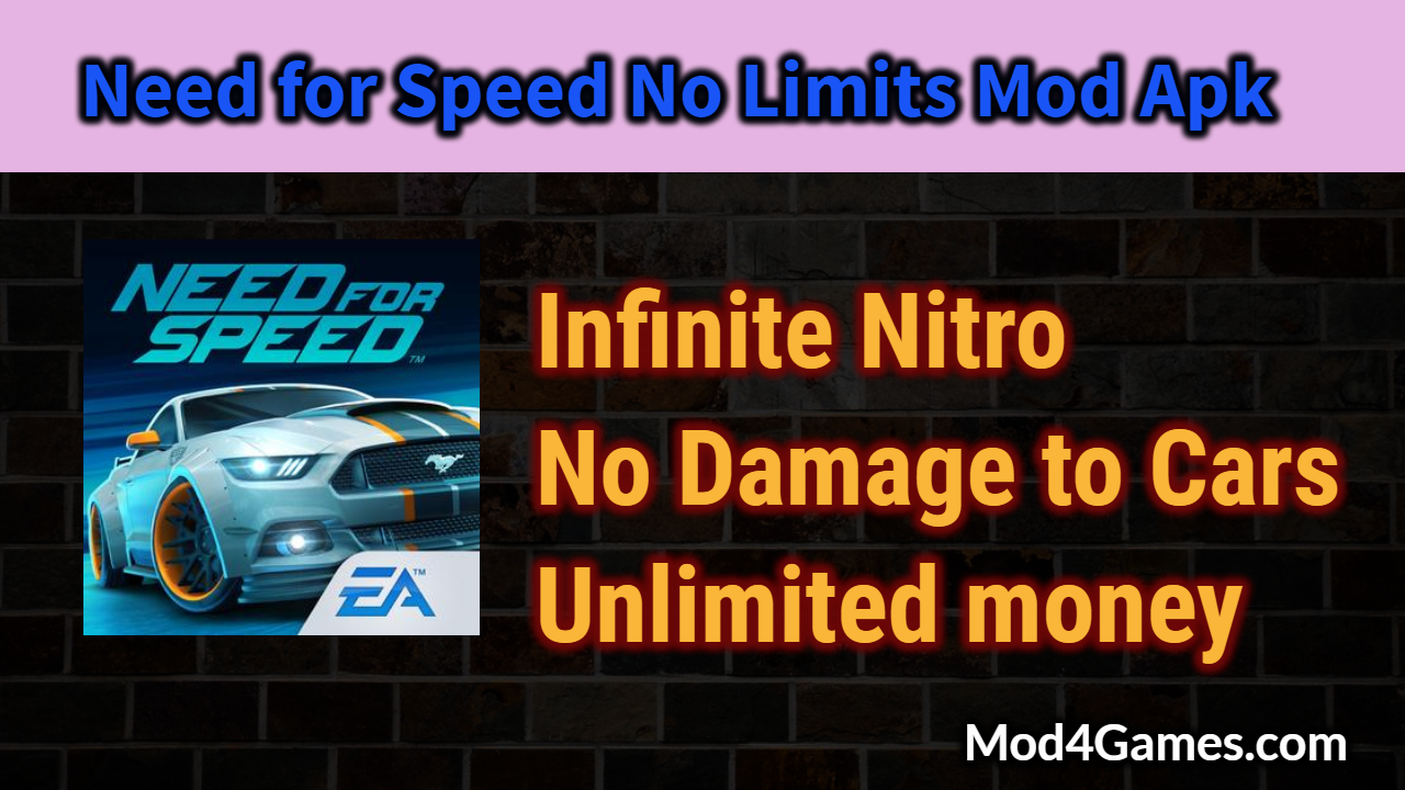 Need for Speed No Limits Mod Apk | Infinite Nitro + No