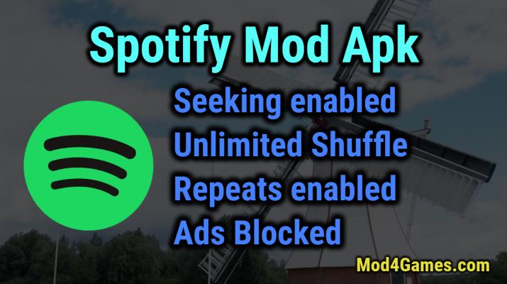 Spotify Mod apk | Seeking enabled + Unlimited Shuffle +