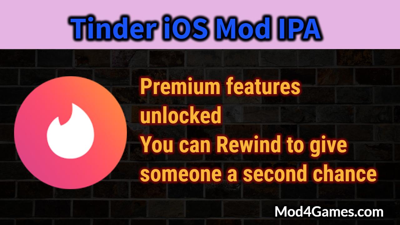 Tinder [iOS Mod] IPA | Premium features unlocked + Rewind