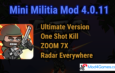 Mini Militia 4.0.11 Mod | Ultimate Version | One Shot Kill |  ZOOM 7X | Radar Everywhere