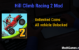 Hill Climb Racing 2 Mod | Unlimited Coins + All vehicle Unlocked