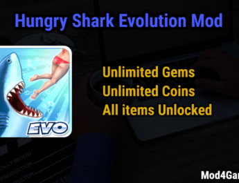 Hungry Shark Evolution Mod | Unlimited Gems + Coins | All items Unlocked
