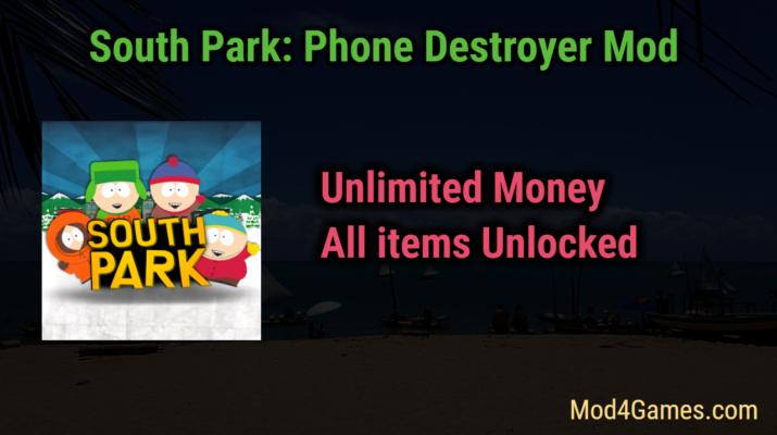 South Park: Phone Destroyer Mod | Unlimited Money + All