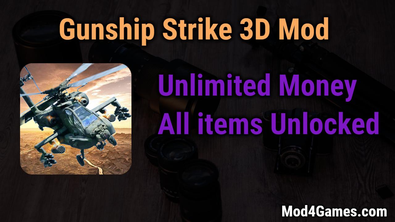 Gunship Strike 3D Mod | Unlimited Money + All items Unlocked