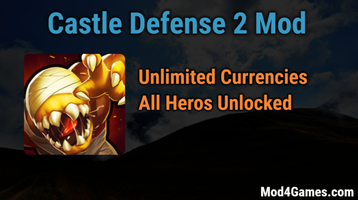 Castle Defense 2 Unlimited paid currencies/All heroes/pets unlocked