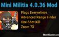 Mini Militia 4.0.36 Mod | Flags Everywhere + Advanced Range Finder | One Shot Kill | Zoom 7X