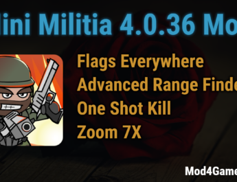 Mini Militia 4.0.36 Mod | Flags Everywhere + Advanced Range Finder | One Shot Kill | Zoom 7X