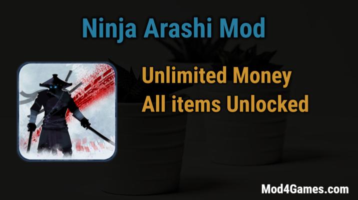 Ninja Arashi Mod | Unlimited Money + All items Unlocked