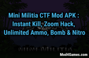 Mini Militia Mod | Unlimited Nitro + Ammo + Bomb | Health 6X