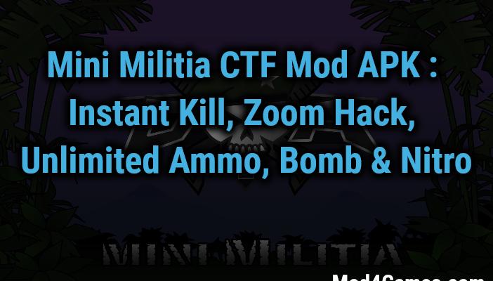 mini militia hack mod download unlimited ammo and nitro